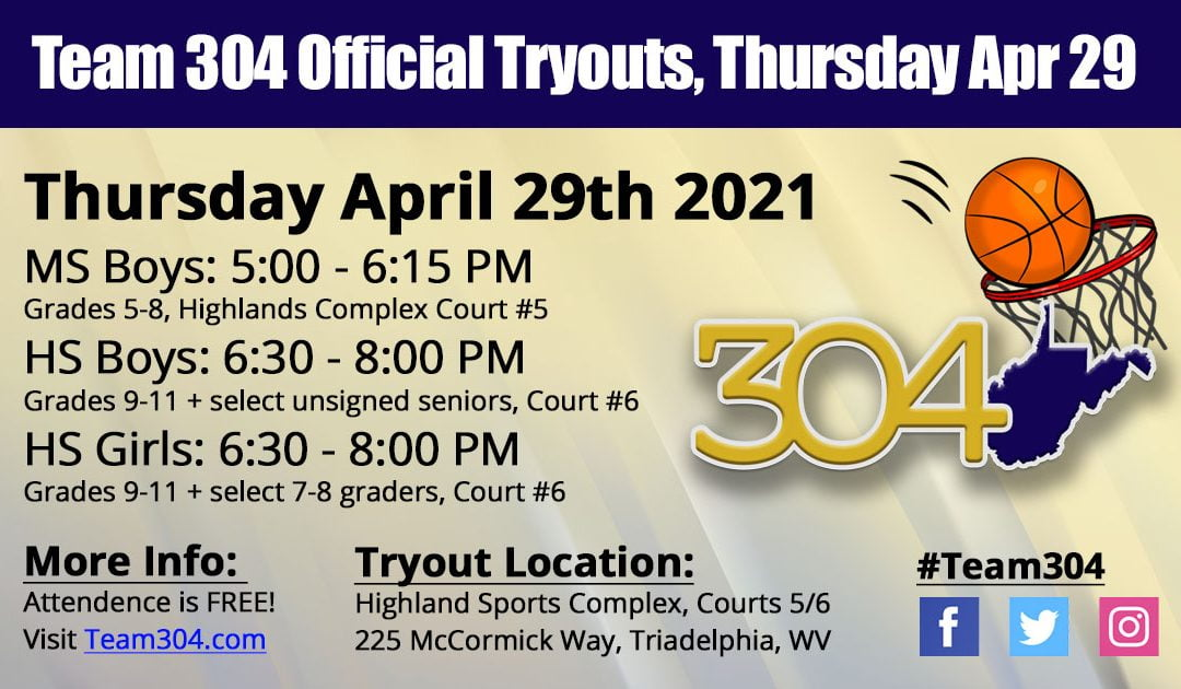 OFFICIAL TRYOUTS: April 29th @ Highland Sports Complex