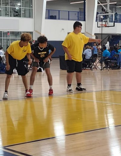 Middle school boys in action at the UA Tournament