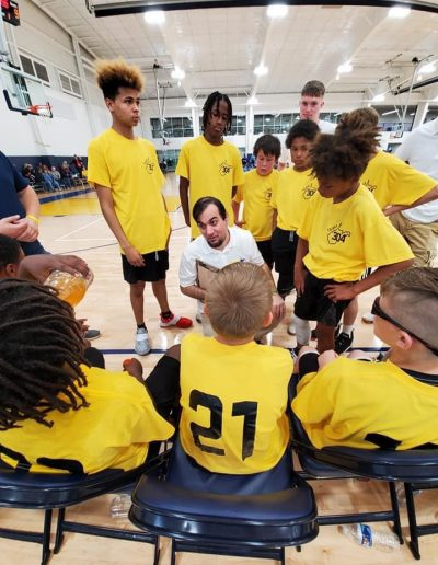 Team 304 Middle School Squad in Huddle
